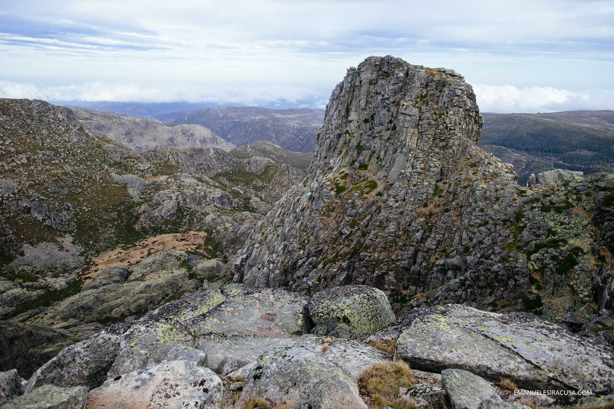 Cantaro Magro, one of the most iconic rock formations in Serra da Estrela