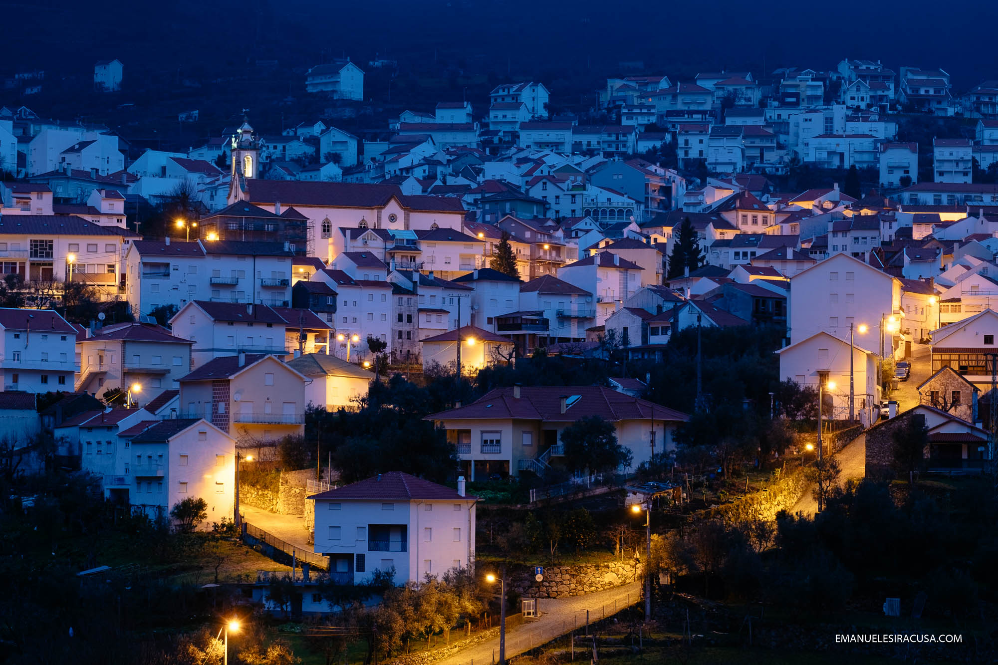 Manteigas before sunrise, as seen from the balcony of my hotel room. Located right in the hearth of the scenic Zezere river's Glacial Valley, and close to many hiking trails, Manteigas is the best gateway to Serra da Estrela.