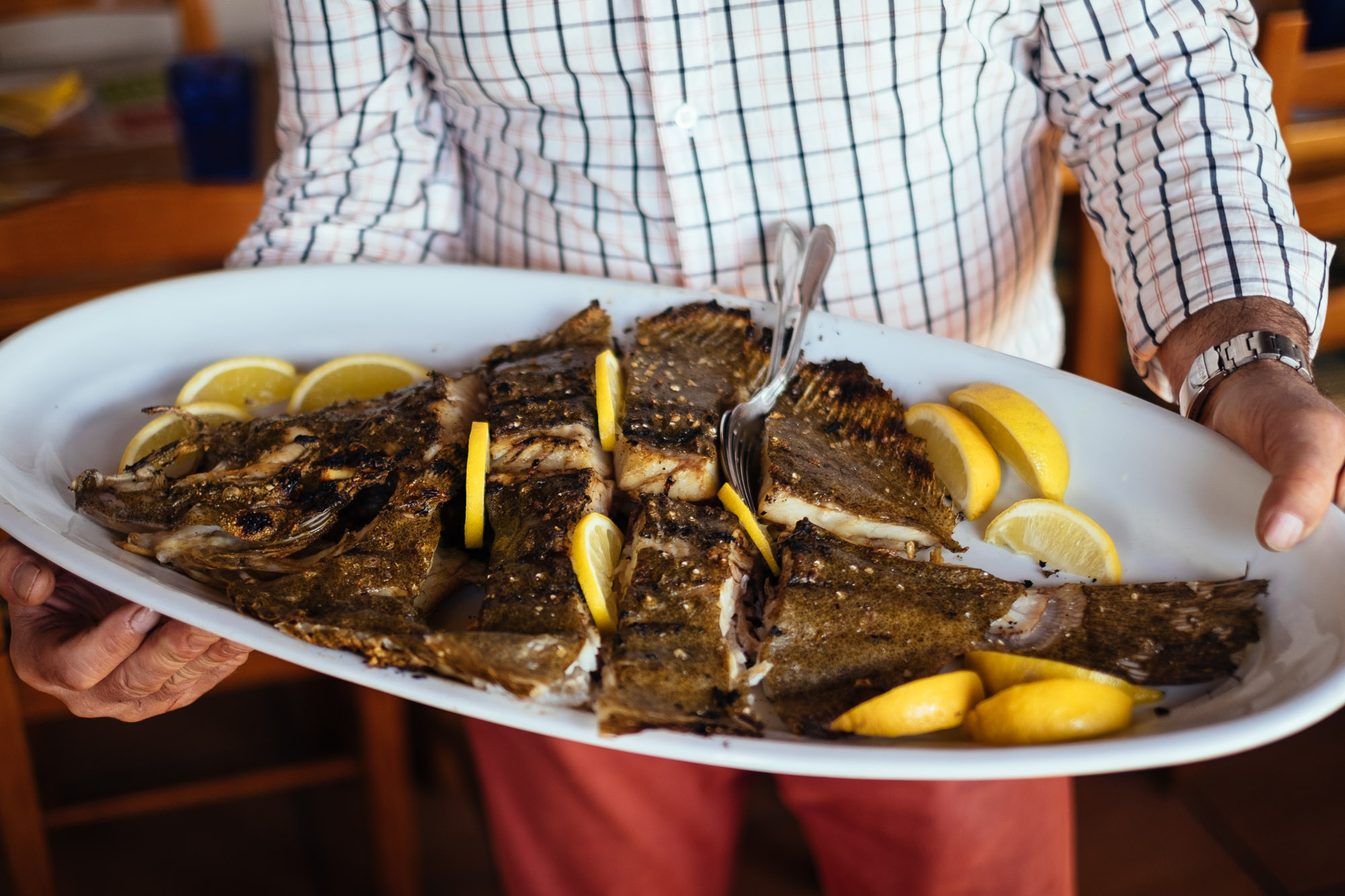 Foodie Portugal Travel: Grilled Turbot in the Alentejo - Arte e Sal restaurant, Sines - Emanuele Siracusa Food and Travel Photographer in Portugal