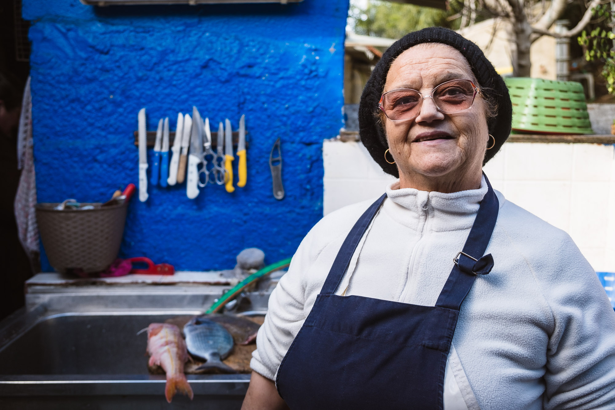 Dona Ana - owner at restaurante o Sacas, Entrada da Barca, Vila Nova de Milfontes, Alentejo, Portugal - Emanuele Siracusa Food and Travel Photographer in Portugal
